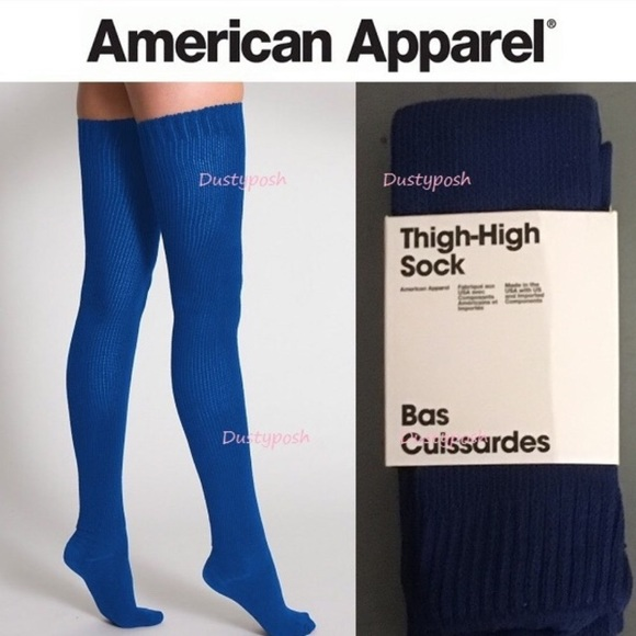 fd0a613e0 2 American Apparel Thigh High Socks Over The Knee
